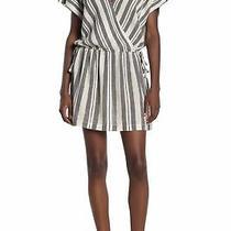 Joie Womens Dresses Gray White Size Large L Sheath Metallic Striped 198- 153 Photo