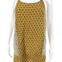 Joie Womens Printed Spaghetti Strap Shift Dress Yellow Size Small Photo