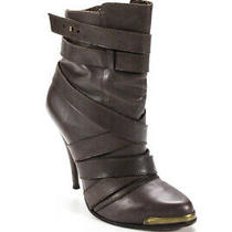 Joie Womens Rounded Toe Brown Leather Ankle Boots Heels Size Eur 38 Photo