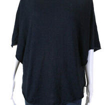 Joie Womens Short Sleeve Hoodie Sweater Navy Blue Size Extra Small Ll19ll Photo