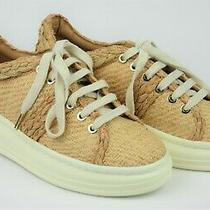 Joie Womens Size 38.5 Maddysun Natural Casual Platform Sneakers   Photo