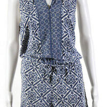 Joie Womens Sleeveless Porcelain Print Tere Romper Blue Print Size M 10621032 Photo