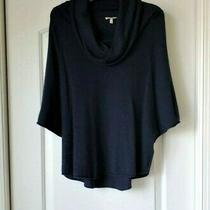 Joie Womens Small Celia Wool & Cashmere Blend Cowl Neck Sweater Navy Photo