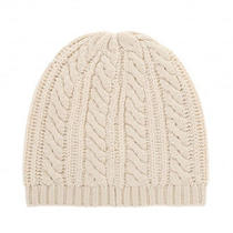 Joie Zorina Wool Cashmere Cable Knit Hat in Chalk Winter White Popsugar New Photo