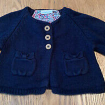 Jojo Maman Bebe Baby Girl Navy Blue Cardigan 3-6 Months Photo