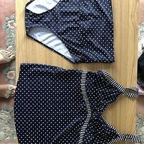 Jojo Maman Bebe Bikini Tankini Navy Polka Dot Medium Photo