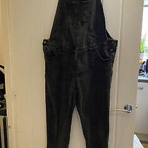Jojo Maman Bebe Black Maternity Dungarees Uk Size 12 Photo