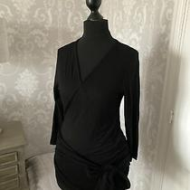 Jojo Maman Bebe Black Maternity Nursing Wrap Tie Front Top Size Xs Photo
