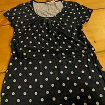 Jojo Maman Bebe Blue With White Spots Maternity Top Medium Photo