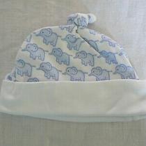 Jojo Maman Bebe Hat Newborn Blue Elephant Print 100% Cotton Bnwot Photo