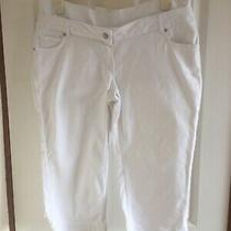 Jojo Maman Bebe Ladies Maternity Cropped White Jeans - Size 16 Photo