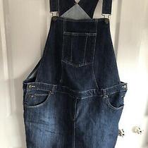 Jojo Maman Bebe Maternity Dress Dungaree Pinafore Denim Size 14 Photo