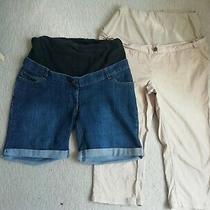 Jojo Maman Bebe Maternity Shorts and Trousers Size 12 Photo
