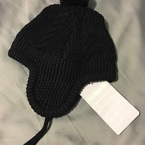 Jojo Maman Bebe Navy Cable Knit Hat Size 0-6 Months Photo
