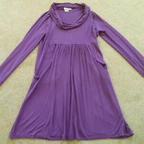 Jojo Maman Bebe Purple Maternity Jersey Soft Dress Size L 14 Large Stretch Photo