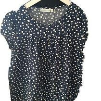 Jojo Maman Bebe Size Small Blue Spotty Maternity Top (N4) Photo