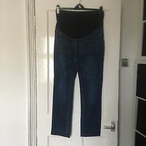 Jojo Maman Bebe Size Uk 10 Blue Maternity Jeans.  (K16) Photo