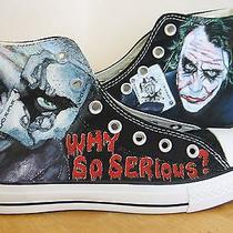 Joker Hand Painted Vintage Converse Sneakers Shoes Custom Designed 63 Photo