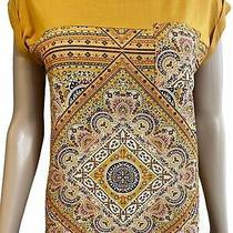 Jolt T-Shirt Size Xs Golden Orange Yellow Short Sleeve Stretch Hobo Pull Over Photo