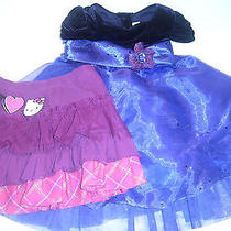 Jona Michelle Purple Dress & Hello Kitty Dark Red Skirt Size 2t-S Photo
