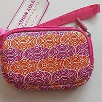 Jonathan Adler Tech Case New  Wristlet Phone Camera Orange Pink Photo