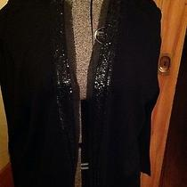 Jones New York Collection Collection Woman 2x Black Embellished Cardigan Photo