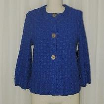 Jones New York Collection Petite Blue River Rayon Knit Button Cardigan Ps Nwt Photo