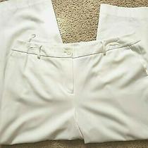 Jones New York Collection Womens White Dress Pants Slacks Stretch Plus 16w Short Photo