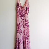 Jones New York Dress Size 8 Pink Blush Purple Silk Floral Wedding Cocktail Party Photo