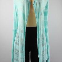 Jones New York Long Sleeve Knit Cardigan Turquoise Size M Lulu Photo