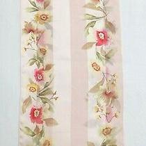 Jones New York Sheer Blush Pink Floral 100% Silk Scarf  Photo