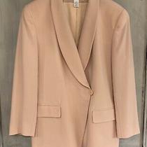 Jones New York Vintage 90's Blush Pink Peach Wool Jacket Blazer Sz 14 Photo