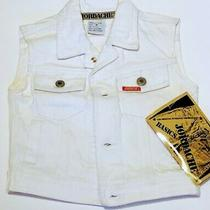 Jordache White Jean Vest-Girls Medium-4pockets-Same Day Shipping Great Accessory Photo