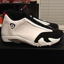 Jordan 14 Xiv Retro Black Toe Size 14 Nike Thunder Last Shot  Photo