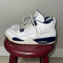 Jordan 4 Retro Ls Legend Blue Size 11 Air Jordan Nike Sneakers Columbia Leather Photo