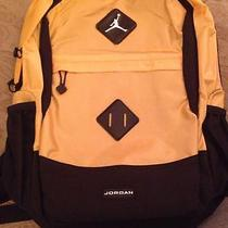 Jordan Jumpman School Backpack Laptop Book Bag Nike New Nwt Basketball Yellow Photo