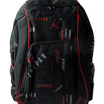 Jordan Jumpman School Backpack Laptop Book Bag Nike New Nwt Basketball Red Black Photo