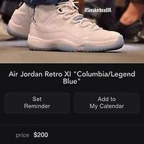 Jordan Retro 11 Columbia Legend Blue Bot Photo