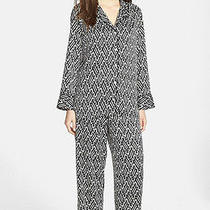 Josie Natori 170 Wan Black White Charmeuse Pajamas Set Top Bottom Nordstrom S Photo