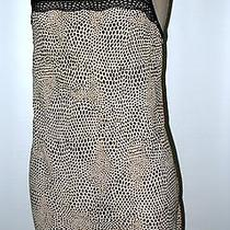 Josie Natori Animal Print Baby Doll Nightgown - Lace Detail - S Ecru/black Photo
