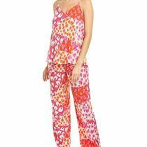 Josie Natori Lily 2pc Pajama Pant Set Women's Pink M Photo