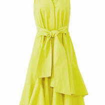 Josie Natori Women's Dress Yellow Size 2 Shirt Tie-Waist Button Down 595- 209 Photo