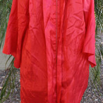 Jostens the Elements Collection Graduation Gown Eco Friendly Red Acetate Robe  Photo