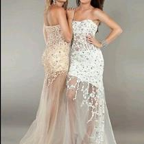 Jovani 2204 Blush Beaded Prom Dress Size 2 Photo