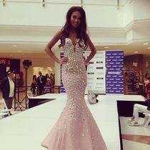 Jovani Dress Blush 944  Prom Homecoming Size 2-4 Photo