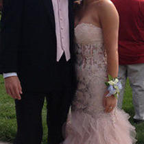 Jovani Prom Dress Mermaid Blush Size 4 Photo