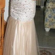 Jovani Prom or Pageant Blush Beaded Mermaid Gown Photo