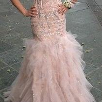 Jovani Size 00 Blush Prom Dress Photo