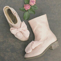 Joyfolie Girls Size 4 Youth Wren Booties in Blush Excellent Condition Photo