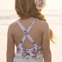 Joyfolie Linnea Maillot Blush 1pc Girls Floral Swimsuit Size 12 Photo